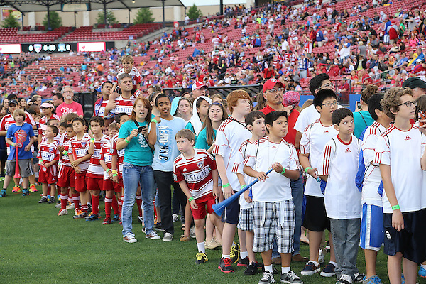 FRISCO, TX:  Pre game ceremonies before the start of the game between FC Dallas and the San Jose Earthquakes at FC Dallas Stadium in Frisco, Texas on May 25,2013 (Photo Rick Yeatts)