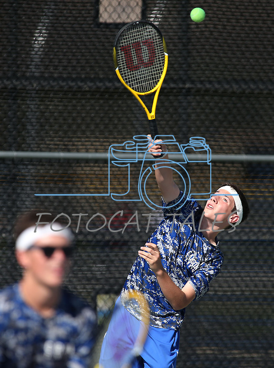 Carson High boys tennis play Reno at CHS, in Carson City, Nev., on Monday, Sept. 15, 2014.<br /> Photo by Cathleen Allison