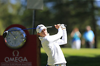 Matthew Fitzpatrick (ENG) tees off the 6th tee during Saturday's Round 3 of the 2018 Omega European Masters, held at the Golf Club Crans-Sur-Sierre, Crans Montana, Switzerland. 8th September 2018.<br /> Picture: Eoin Clarke | Golffile<br /> <br /> <br /> All photos usage must carry mandatory copyright credit (&copy; Golffile | Eoin Clarke)