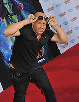 Vin Diesel at the world premiere of his movie &quot;Guardians of the Galaxy&quot; at the El Capitan Theatre, Hollywood.<br /> July 21, 2014  Los Angeles, CA<br /> Picture: Paul Smith / Featureflash