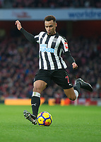 Jacob Murphy of Newcastle United during the Premier League match between Arsenal and Newcastle United at the Emirates Stadium, London, England on 16 December 2017. Photo by Vince  Mignott / PRiME Media Images.