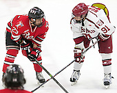 Lou Nanne (RPI - 23), Jake Horton (Harvard - 91) - The Harvard University Crimson defeated the visiting Rensselaer Polytechnic Institute Engineers 5-2 in game 1 of their ECAC quarterfinal series on Friday, March 11, 2016, at Bright-Landry Hockey Center in Boston, Massachusetts.