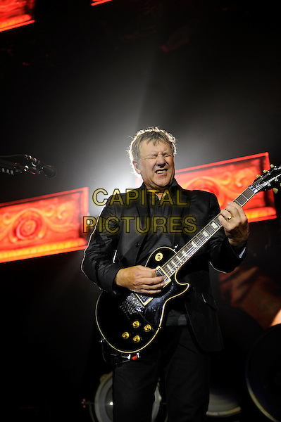 Alex Lifeson of Rush.Rush performing in concert, o2 Arena, Greenwich, London, England, UK, 24th May 2013..music live on stage gig performing performance half length guitar playing .CAP/MAR.© Martin Harris/Capital Pictures.