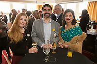 Pictured from left are Charlotte Moreland of Training for Business, Stephen Marwood of Nottingham City Council and Anita Sawhney of MemSaab Restaurant