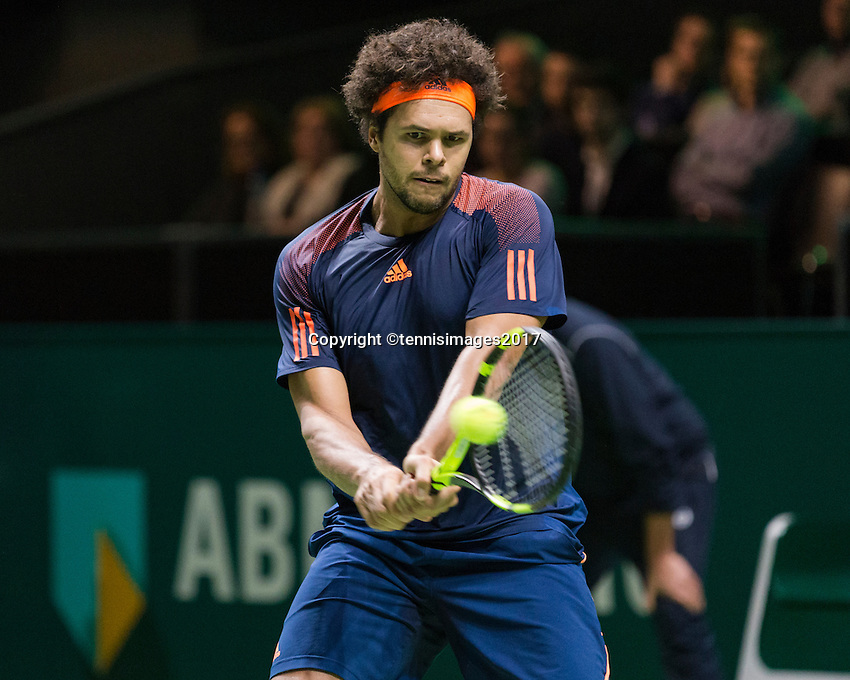 ABN AMRO World Tennis Tournament, Rotterdam, The Netherlands, 17 Februari, 2017, Jo-Wilfried Tsonga (FRA)<br /> Photo: Henk Koster
