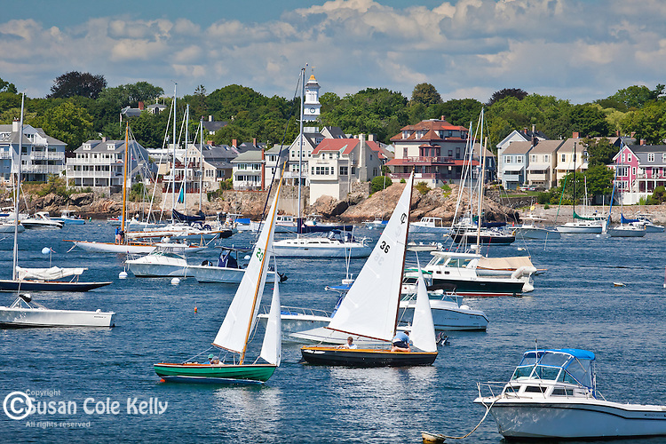 Sailing in Marblehead Harbor, Marblehead, MA, USA