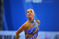 Daria Dmitrieva of Russia performs with ribbon at 2010 Pesaro World Cup on August 27, 2010 at Pesaro, Italy.  Photo by Tom Theobald.