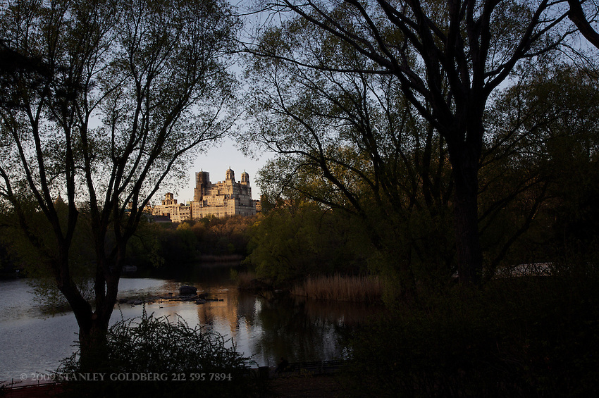 Beresford Apartment from Boat Basin, Central park