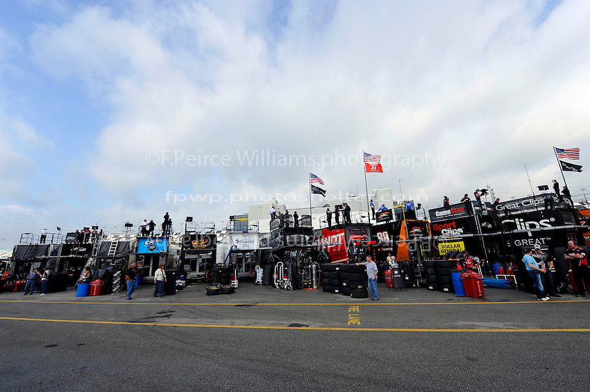 The Nationwide garage area at Daytona.