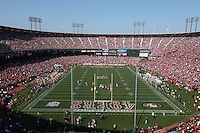 SAN FRANCISCO, CA - NOVEMBER 10:  Interior overhead general view of the inside of Candlestick Park with fans during the game between the Carolina Panthers and San Francisco 49ers at Candlestick Park on November 10, 2013 in San Francisco, California. (Photo by Brad Mangin)