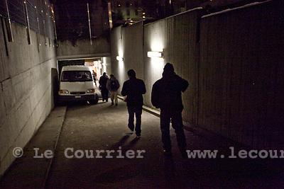 Genève, le 07.01.2010.Centre de la protection civile de la rue des Vollandes..Structure d'urgence de la ville de Genève pour les sans-abris..© Le Courrier / J.-P. Di Silvestro
