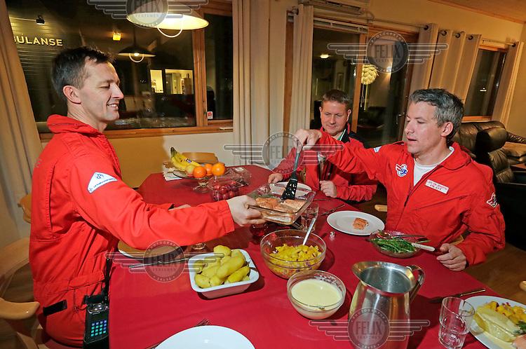 Food and exercise, a conversation with doctor Steinar Einvik, Norwegian Air Ambulance.<br /> <br /> photo: Fredrik Naumann/Felix Features
