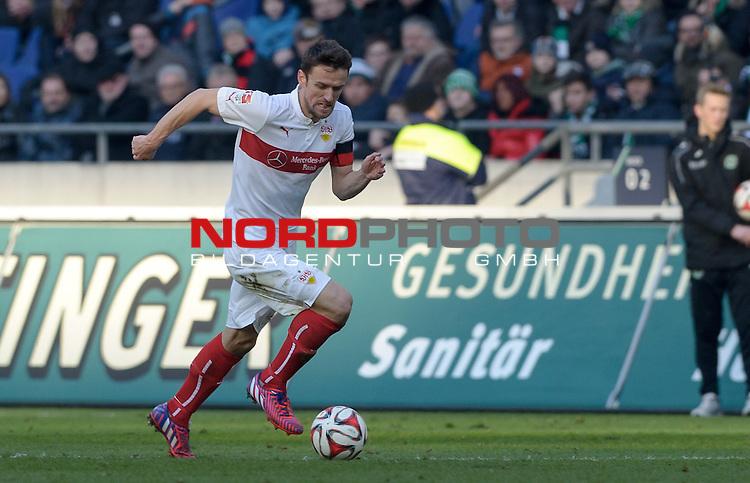 28.02.2015, HDI Arena, Hannover, GER, 1.FBL, Hannover 96 vs VfB Stuttgart, im Bild Christian Gentner (Stuttgart #20)<br /> <br /> Foto &copy; nordphoto / Frisch