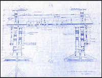 BNPS.co.uk (01202 558833)<br /> Pic: PropStore/BNPS<br /> <br /> Star Wars - Ep IV - A New Hope: Service Gantry Plans and Elevations.<br /> <br /> Fascinating blueprints from the early Star Wars and Star Trek films have been unearthed.<br /> <br /> An auction house is selling a selection of blueprints which include front elevations of R2-D2, interior and exterior set renderings of the Millennium Falcon and front, side and bottom views of the USS Enterprise as well as USS Enterprise set plans.<br /> <br /> The blueprints - many of which have never before been seen by the public - provide a unique insight to fans of the iconic films about how they were made.