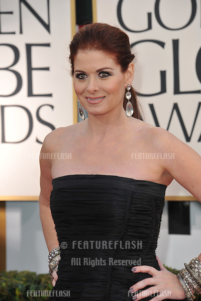 Debra Messing at the 70th Golden Globe Awards at the Beverly Hilton Hotel..January 13, 2013  Beverly Hills, CA.Picture: Paul Smith / Featureflash