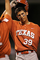 Texas Longhorns Infielder David Hernandez during the 2008 season. Photo by Andrew Woolley / Four Seam Images.