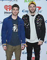 LOS ANGELES- DECEMBER 1:  The Chainsmokers at the 102.7 KIIS FM's Jingle Ball 2017 at the Forum on December 1, 2017 in Los Angeles, California. (Photo by Scott Kirkland/PictureGroup)