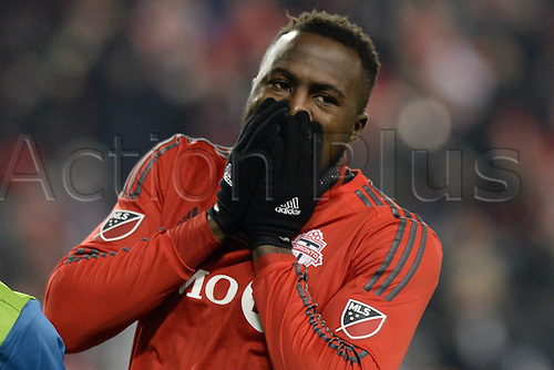 10.12.206. Toronto, ONT, Canada. MLS Football League Cup. Jozy Altidore (17) of Toronto FC reacts during the first half of the MLS Cup Final game between Toronto FC and Seattle Sounders on December 10, 2016, at BMO Field in Toronto, ON, Canada.