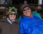 Paula Wegesforth and Tom Moylan enjoy the WinterWonderGrass event on Saturday, April 7, 2018 in Squaw Valley, Ca.