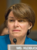 United States Senator Amy Klobuchar (Democrat of Minnesota) listens ascChristopher A. Wray testifies on his nomination to be Director of the Federal Bureau of Investigation (FBI) before the US Senate Committee on the Judiciary on Capitol Hill in Washington, DC on Wednesday, July 12, 2017.<br /> Credit: Ron Sachs / CNP<br /> (RESTRICTION: NO New York or New Jersey Newspapers or newspapers within a 75 mile radius of New York City)