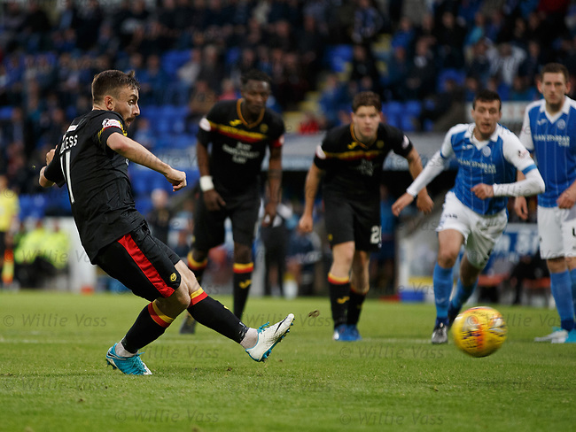 Steven Lawless scores from the penalty spot