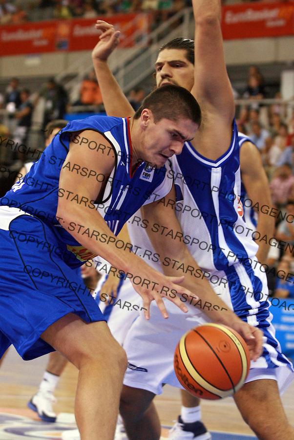 Sport Kosarka Basketball Eurobasket 2007 Spain Spanija European Basketball Championship Evropsko Prvenstvo u Kosarci Darko Milicic photo: Pedja Milosavljevic