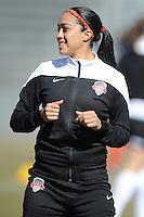 Boyds, Maryland - March 15, 2014. Renae Cuellar of the Washington Spirit. The Washington Spirit during the Meet the Team at the Maryland SoccerPlex.