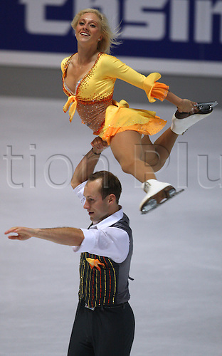 24th September 2009: Maylin Hausch and Daniel Wende  skating in the Ice skating competition at the 41st Nebelhorn Trophy in Oberstdorf, Germany. (Photo by Karl-Josef Hildenbrand/ActionPlus). UK Licenses Only