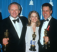Anthony Hopkins Jodie Foster Johnathan Demme, 1992, Photo By Michael Ferguson/PHOTOlink