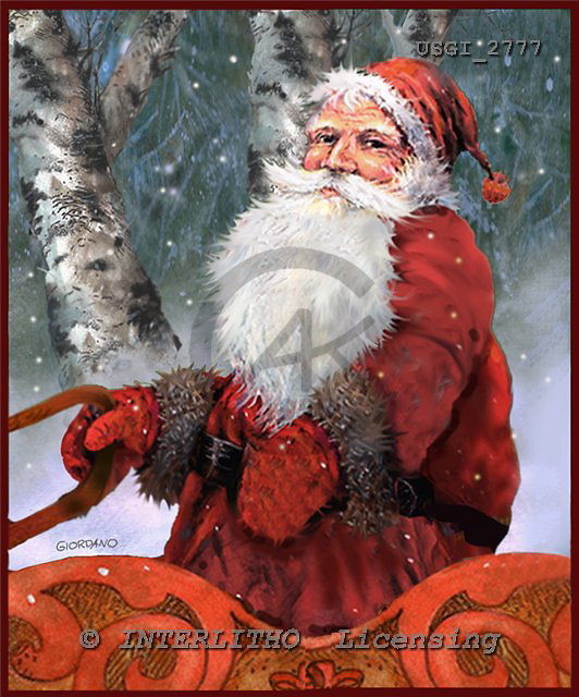GIORDANO, CHRISTMAS SANTA, SNOWMAN, WEIHNACHTSMÄNNER, SCHNEEMÄNNER, PAPÁ NOEL, MUÑECOS DE NIEVE, nostalgic, paintings+++++,USGI2777,#X# nostalgic,vintage