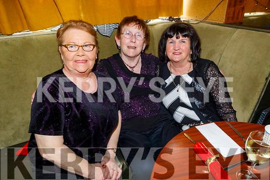 Kitty Morrissey, Kathleen McMullin and Theresa Lehane enjoying the Boherbee/John Mitchels Active retired Christmas Party in John Mitchels on Saturday.