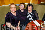 Kitty Morrissey, Kathleen McMullin and Theresa Lehane enjoying the Boherbee/John Mitchels Active retired Christmas Party in John Mitchels on Saturday.