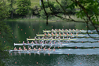 Lucerne, SWITZERLAND<br /> <br /> Women's Eights Preliminary race. 2016 European Olympic Qualifying Regatta, Lake Rotsee.<br /> <br /> Sunday  22/05/2016<br /> <br /> [Mandatory Credit; Peter SPURRIER/Intersport-images]