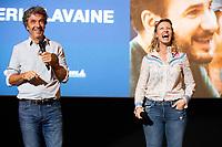 """EXCLUSIF : Alexandra Lamy et Eric Lavaine lors de l'avant-première du film """" Chamboultout """" à l'UGC De Brouckère, à Bruxelles.<br /> Belgique, Bruxelles, 22 mars 2019.<br /> EXCLUSIVE : French actress Alexandra Lamy, French actor José Garcia and French director Eric Laverne attend the movie premiere of ' Chamboultout ' at the UGC De Brouckère in Brussels.<br /> Belgium, Brussels, 22 March 2019."""