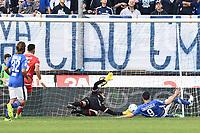 Brescia 30/09/2017 - campionato di calcio serie B / Brescia - Perugia / foto Matteo Gribaudi/Image Sport/Insidefoto<br /> nella foto: gol Andrea Caracciolo