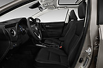 Front seat view of 2017 Toyota Corolla XLE Premium 4 Door Sedan front seat car photos