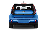 Straight rear view of 2018 KIA Soul EV Base 5 Door Hatchback stock images