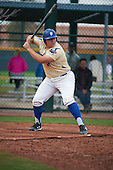 Jesse Garcia (17) of Grossmont High School in El Cajon, California during the Under Armour All-American Pre-Season Tournament presented by Baseball Factory on January 15, 2017 at Sloan Park in Mesa, Arizona.  (Art Foxall/Mike Janes Photography)