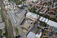 Postgelaende und Bahnhofsvorplatz Bergedorf  : EUROPA, DEUTSCHLAND, HAMBURG, (EUROPE, GERMANY), 21.09.2016: Postgelaende und Bahnhofsvorplatz Bergedorf
