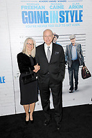 www.acepixs.com<br /> March 30, 2017  New York City<br /> <br /> Suzanne Newlander and Alan Arkin attending the 'Going In Style' New York Premiere at SVA Theatre on March 30, 2017 in New York City.<br /> <br /> Credit: Kristin Callahan/ACE Pictures<br /> <br /> <br /> Tel: 646 769 0430<br /> Email: info@acepixs.com