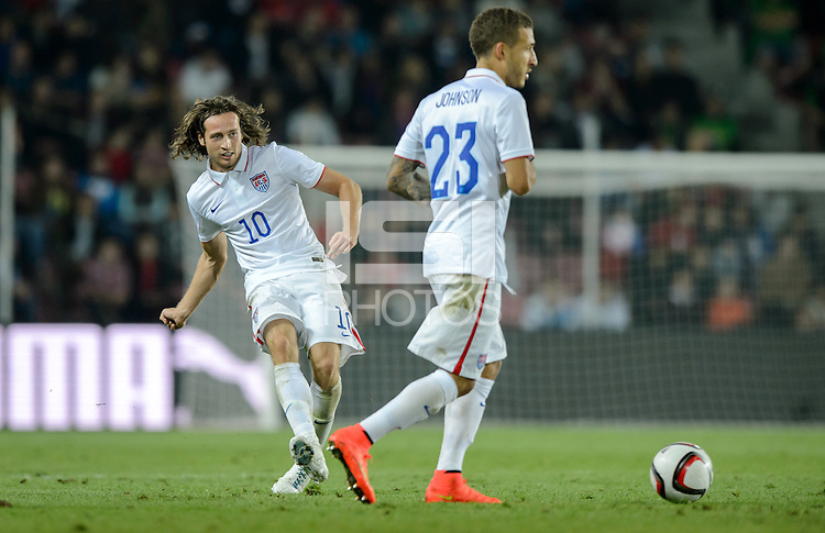 PRAGUE, Czech Republic - September 3, 2014: USA's Mix Diskerud during the international friendly match between the Czech Republic and the USA at Generali Arena.