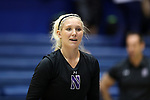DURHAM, NC - SEPTEMBER 01: Northwestern's Emily Ehman. The Northwestern University Wildcats played the University of South Carolina Gamecocks on September 1, 2017 at Cameron Indoor Stadium in Durham, NC in a Division I women's college volleyball match. Northwestern won 3-1 (13-25, 25-18, 25-18, 25-19).