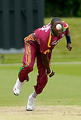 IIC T20 World Cup warm up match - Scotland V West Indies, at the John Paul Getty Oval, in the grounds of Wormsley Estate, Buckinghamshire - Windies bowling star Fidel Edwards - Picture by Donald MacLeod - 28 May 2009