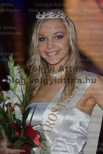 Miss Balaton Capital City beauty contest held in Keszthely, Hungary. Saturday, 15. August 2009. ATTILA VOLGYI