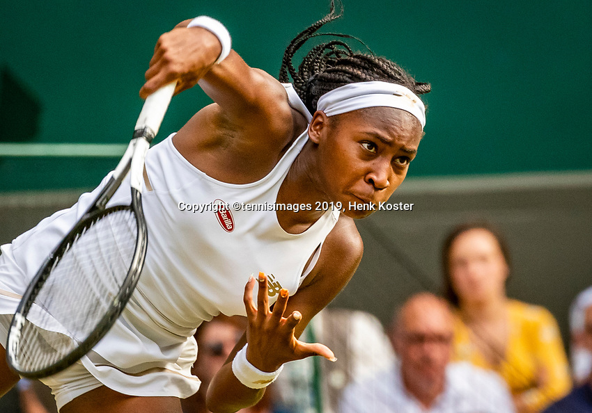 London, England, 5 July, 2019, Tennis,  Wimbledon, Womans single: Cori Grauff (USA)<br /> Photo: Henk Koster/tennisimages.com