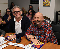 "LOS ANGELES - MAY 21: Brian Boyle, EP/Showrunner and Matt Weitzman, EP/Co-Creator/Showrunner attends the 300th episode table ready and cake cutting celebration for 20th Century Fox Television's ""American Dad"" on May 21, 2019 in Los Angeles, California. (Photo by Frank Micelotta/20th Century Fox Television/PictureGroup)"
