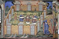 BG41183.JPG BULGARIA, RILA MONASTERY, CHURCH OF NATIVITY, frescoes
