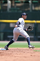 April 26, 2009:  Second Baseman Luis Nunez (1) of the Scranton Wilkes-Barre Yankees, International League Class-AAA affiliate of the New York Yankees, during a game at the Frontier Field in Rochester, NY.  Photo by:  Mike Janes/Four Seam Images