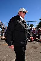 Feb 10, 2008; Daytona Beach, FL, USA; Nascar Sprint Cup Series team owner Rick Hendrick during qualifying for the Daytona 500 at Daytona International Speedway. Mandatory Credit: Mark J. Rebilas-US PRESSWIRE