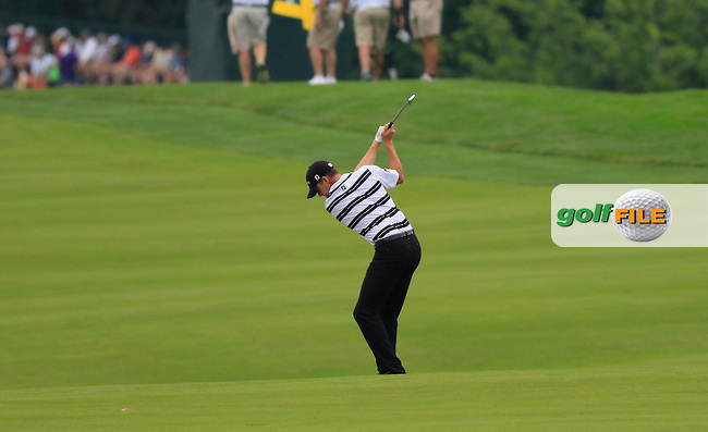 Jimmy Walker (USA) plays his 2nd shot on the 9th hole during Friday's Round 1 of the 2016 U.S. Open Championship held at Oakmont Country Club, Oakmont, Pittsburgh, Pennsylvania, United States of America. 17th June 2016.<br /> Picture: Eoin Clarke | Golffile<br /> <br /> <br /> All photos usage must carry mandatory copyright credit (&copy; Golffile | Eoin Clarke)